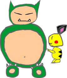 Boat request 5: Snorlax being poked by pichu by ve731