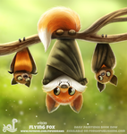Daily Paint 1939# Flying Fox by Cryptid-Creations