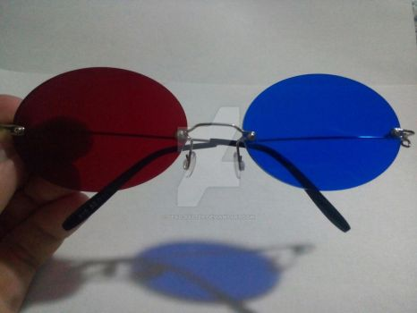 Crafts time! - Sollux's glasses new design by Dead-Batter