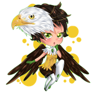 eagle chibi by RavenMomoka