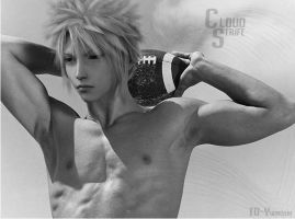 Cloud Strife: Football by TD-Yukiryuu