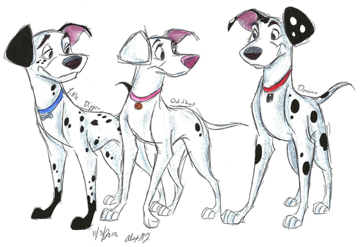 102 Dalmatians Grown-Up Pups by Stray-Sketches