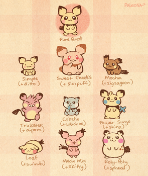 Pichu Variations by Paleona
