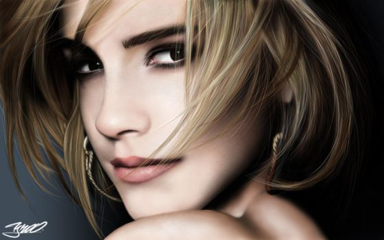 Emma Watson retrato digital by yrastilo