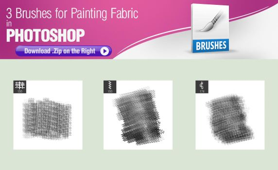3 Brushes for Painting Fabric in Photoshop by pixelstains