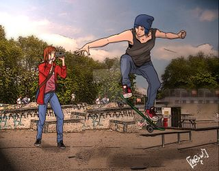 Skating! - Commission by Maiqueti