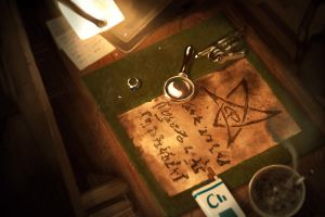 CoC : Elder Sign Parchment by MarkTarrisse