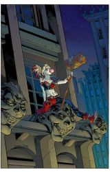 Harley Quinn.variant cover.color by TomRaney