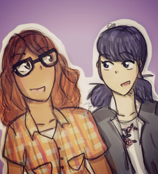 Marinette and Alya by Daisy68199