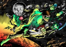 Green Lantern Colors by LarsonJamesART