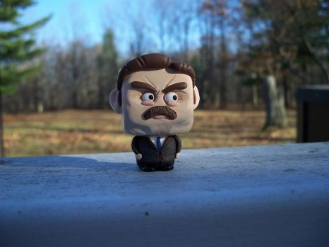 Ron Swanson from Parks and Rec by siraudio
