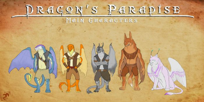 Dragon's Paradise Main Characters by RafaBolas