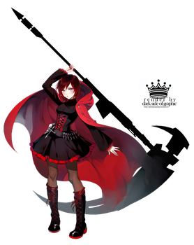 render RWBY, Ruby Rose by DarkSideofGraphic