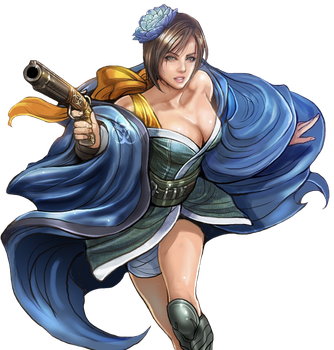 Jill Valentine-Onimusha Soul PNG by Isobel-Theroux