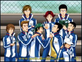 Seigaku Regulars by QooKi