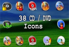 38 new CD DVD Icons by zman3