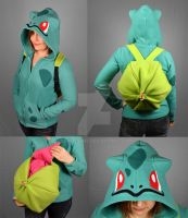Bulbasaur Hoodie with Bulb Backpack Vers. 2.0