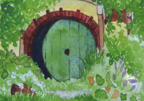 Hobbit Hole ACEO by teacupmusings