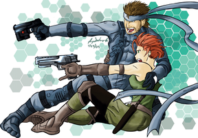 Snake and Meryl Commission by JorgeSantiagoJr
