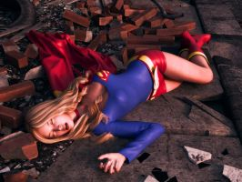 Supergirl in rubble 2 by Transformerman