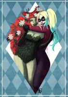 Harley and Ivy Tutorial Painting by gabbygoodarts