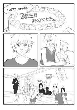 Happy Birthday p1 - Akatsuki comic by Dicenete