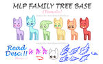 MLP Family Tree Base (Female) by marshmall0wface
