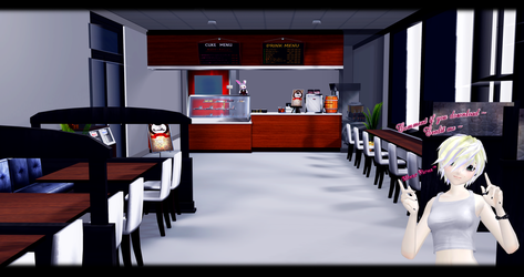 [MMD] Cafe DL ~ by o-DSV-o