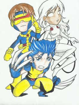 X-men Chibis by remymcginnis