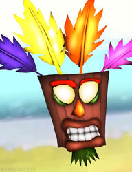 Aku Aku (Crash Bandicoot) by DENDEROTTO