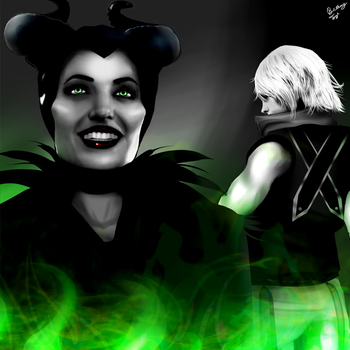 Maleficent and Riku by FlyingPings