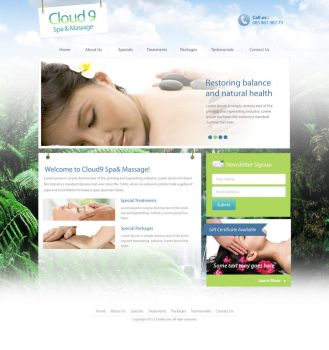 Cloud9 - Massage and Health Therapy Website by faizalqurni