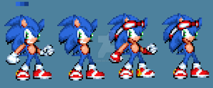 Personal Style Sonic Sprite by TechM8