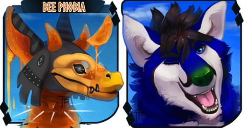 Bee Phobia and Dukory Icons (C) by Thalliumfire