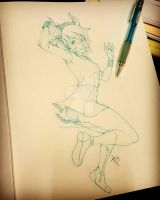 Horns and Short Skirt by Inked-Alpha
