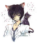 Lelouch Lamperouge and Arthur by krustal-chan