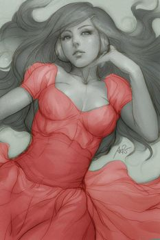 The girl in Red by Bran-new-Lovesong