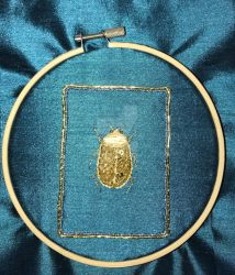 Goldwork Scarab with Sheen by MySpecialist