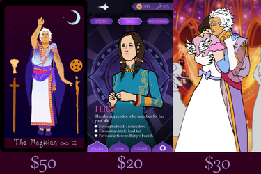 Arcana Commissions (Emergency Commissions) by marylizabetha