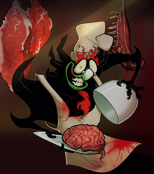 cooking with aku by Wimsi
