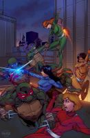 TMNT vs. Totally Spies by ParisAlleyne