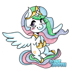 Chibi Celestia by PoneBooth
