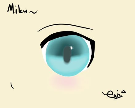 Disappointment Art#9-Hatsune Miku's Eyes by DisappointmentRao