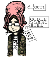 There is an octopus on my head by godlessmachine
