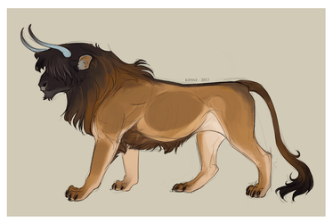 Bull Lion by Kipine
