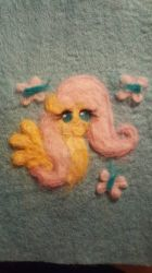Needle Felted Fluttershy Portrait by Rabies-the-Squirrel