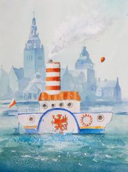 The Steamboat from Szczecin by sanderus