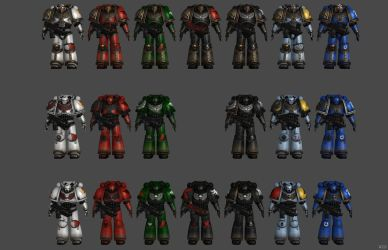 'Warhammer 40k: Regicide' Space Marines Pawn XPS!! by lezisell