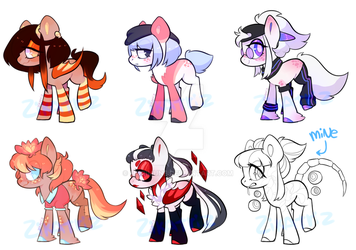 Pony adopts (4/5) by Murimune