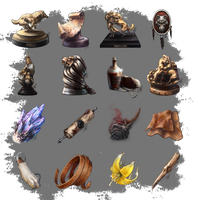 ARPG Items - Trophies and More by squidina